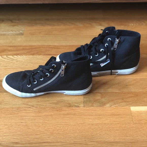 Superga Shoes   Black Sneakers With